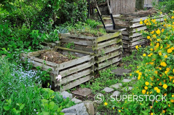 Stock Photo: 1566-771383 Wooden compost bin