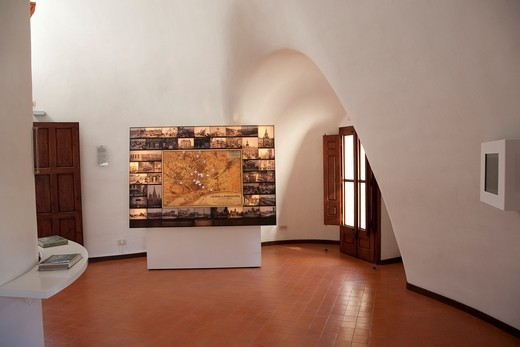 Interior of Porters Lodge Gatehouse Museum designed by Gaudi in Barcelona, Catalonia, Spain : Stock Photo