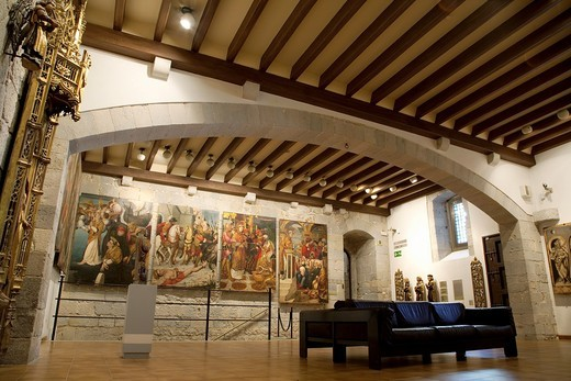 Interior of Art Museum in Girona, Catalonia, Spain : Stock Photo