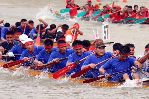Boat Race, Kuching, sarawak, Malaysia. : Stock Photo