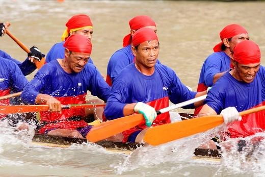 Stock Photo: 1566-772606 Boat Race, Kuching, sarawak, Malaysia.