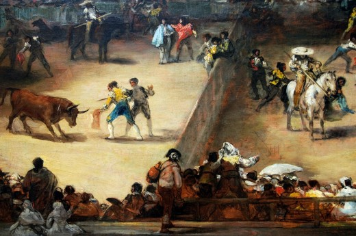 Stock Photo: 1566-772861 Detail: Bullfight in a Divided Ring, Attributed to Francisco de Goya y Lucientes, Spanish, 38 3/4 x 49 3/4 in 98 4 x 126 4 cm, Metropolitan Museum of Art, New York City
