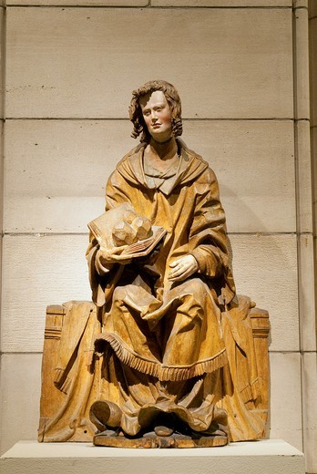 Saint Stephen, ca  1525–30, Hans Leinberger, German, active 1510–1530, South German, Made in Lower Bavaria, Limewood with traces of paint Overall: 33 x 21 1/2 x 8 1/2in  83 8 x 54 6 x 21 6cm, Metropolitan Museum of Art, New York City : Stock Photo