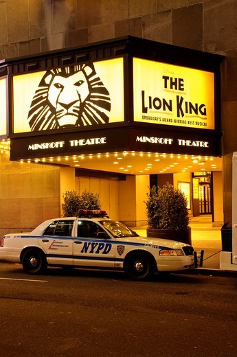 Lion King Broadway play at the Minskoff Theater, Times Square, 42nd Street, New York City : Stock Photo