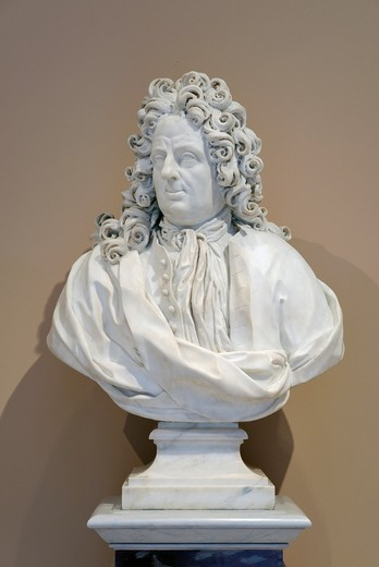 Stock Photo: 1566-773262 Bust of Giovanni Andrea Muti, ca  1725, by Bernardino Cametti 1670–1736, Italian Rome, Marble With 7-1/2 in  19 1 cm base,H  38-1/2 in  97 8 cm, Metropolitan Museum of Art , New York City,