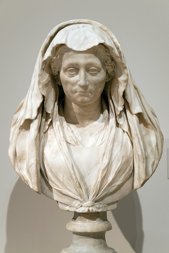 Stock Photo: 1566-773268 Luisa Deti, d  1557, 1604, by Ippolito Buzio 1562–1634, Italian, Marble H  23-1/2 in  59 7 cm H , with base, 29-1/2 in  74 9 cm, Metropolitan Museum of Art , New York City,
