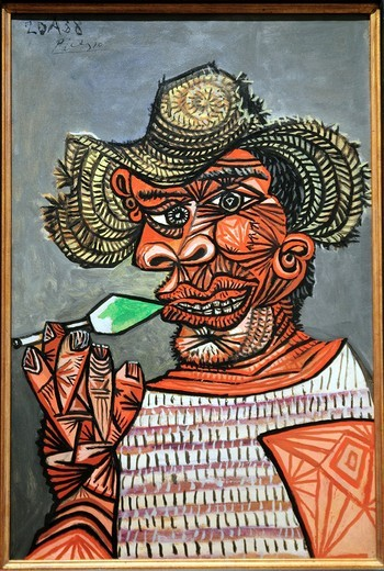 Stock Photo: 1566-773276 Man with a Lollipop, 1938, by Pablo Picasso, Spanish, Metropolitan Museum of Art, Modern Art Galleries, New York City