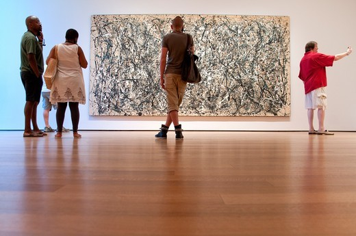 ONE: Number 31, 1950, Jackson Pollock, MOMA, Museum of Modern Art, New York City : Stock Photo