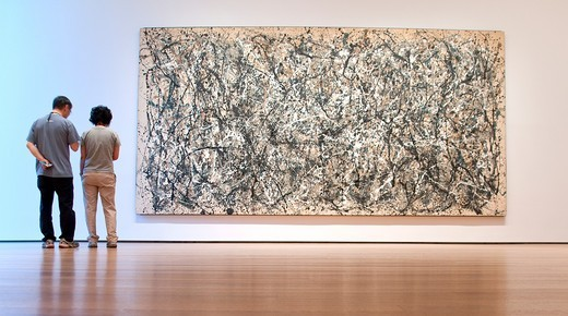 ONE: Number 31, 1950, Jackson Pollock, MOMA, Museum of Modern Art, New York City : Stock Photo