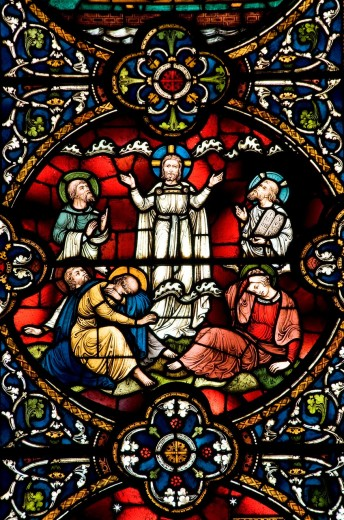 Stock Photo: 1566-774471 Stained glass windows, Salisbury Cathedral, Salisbury, England, UK