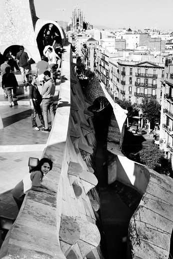 Stock Photo: 1566-774744 Casa Mila, La Pedrera, Barcelona, Catalonia, Spain