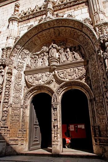 Conceiçao Velha´s church, manuelina architecture, Lisboa. : Stock Photo