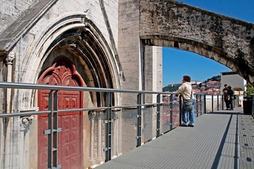gateway, Carmen´s Convent, s. XIV, Lisboa : Stock Photo