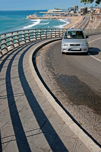 car, Miracle Beach, Tarragona, Catalonia, Spain : Stock Photo