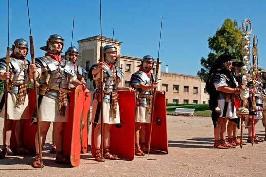 Stock Photo: 1566-776241 Legionaries, Roman, Tarraco Viva festival´11, Tarragona, Catalonia, Spain