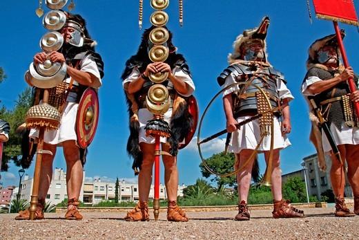 Roman, legionnaires, festival´11 Tarraco Viva, Tarragona, Catalonia, Spain : Stock Photo