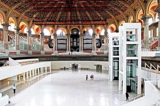 Oval hall, Palau Nacional, 1929, neoclassical, Barcelona, Catalonia, Spain : Stock Photo
