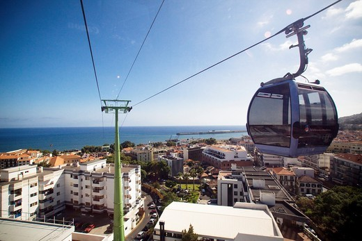 Cableway over Funchal : Stock Photo