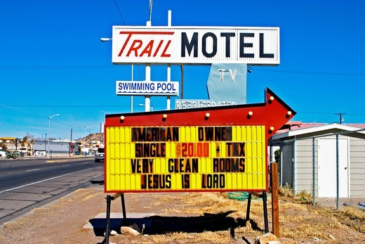 Stock Photo: 1566-777384 Trail Motel, Truth or Consequences, New Mexico, USA