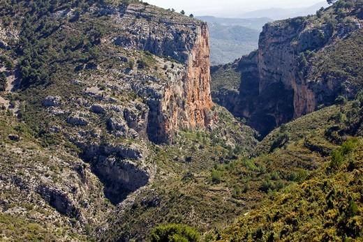 Salt del Cavall Gorge - Lucena - Alcalatén - Castellón - Comunidad Valenciana - Spain : Stock Photo