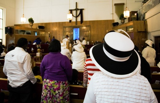 Greater Zion Hill Baptist Church, Gospel, Harlem, New York City, New York, USA. : Stock Photo
