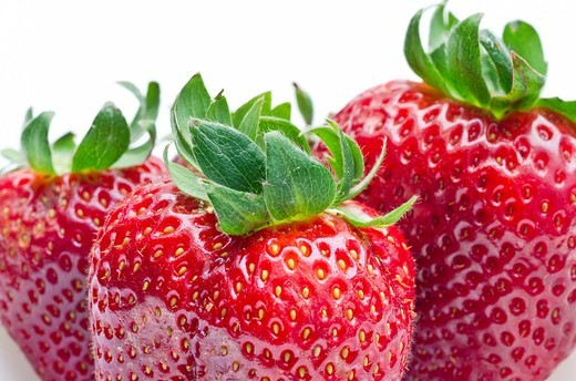 Strawberry fruit  Mediterranean diet : Stock Photo