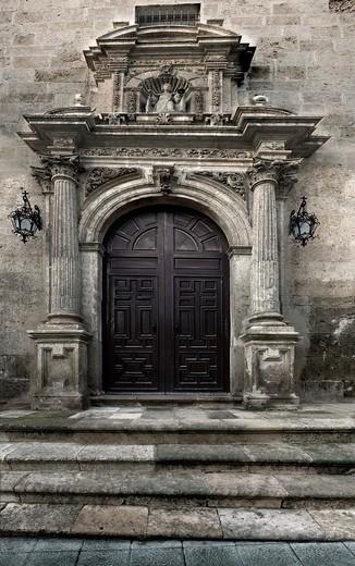 Portico del Convento de Las Claras Almería, Andalusia, Spain : Stock Photo