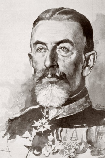 Carol I, 1839 – 1914  Born Prince Karl of Hohenzollern-Sigmaringen  Reigning prince and then king of Romania from 1866 to 1914  From La Esfera, 1914 : Stock Photo