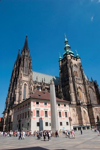 St Vitus Cathedral, Prague Castle, Prague, Czech Republic : Stock Photo