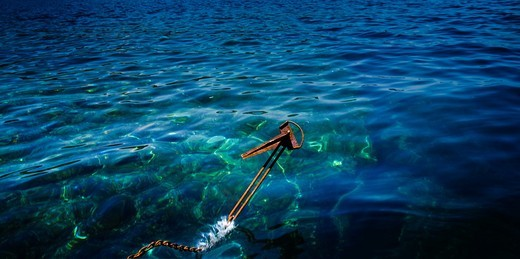 Stock Photo: 1566-782289 Anchoring the islands Formigues