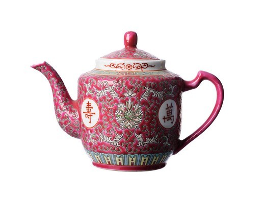 Vintage oriental tea pot : Stock Photo