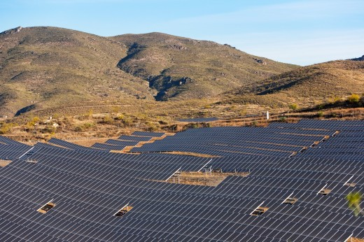 Solar plant  Lucainena de las Torres  Almeria  Andalucia  Spain : Stock Photo