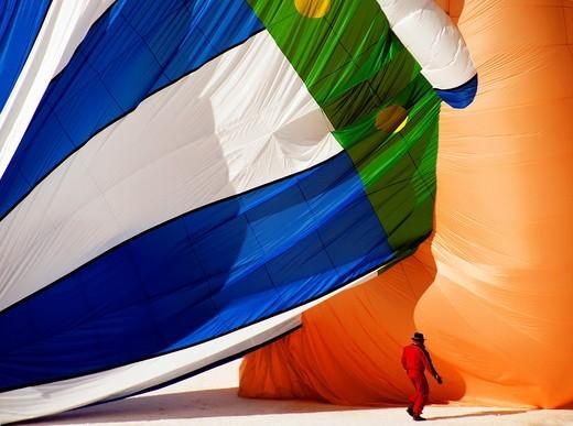 Stock Photo: 1566-784701 International Balloons Show, Chateau d´Oex, Switzerland