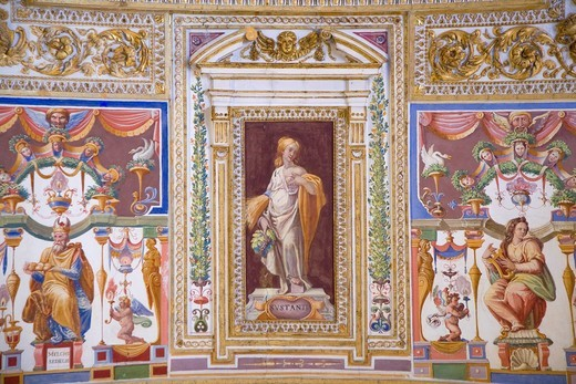 Gallery of the Maps, Musei Vaticani, Rome, Italy : Stock Photo