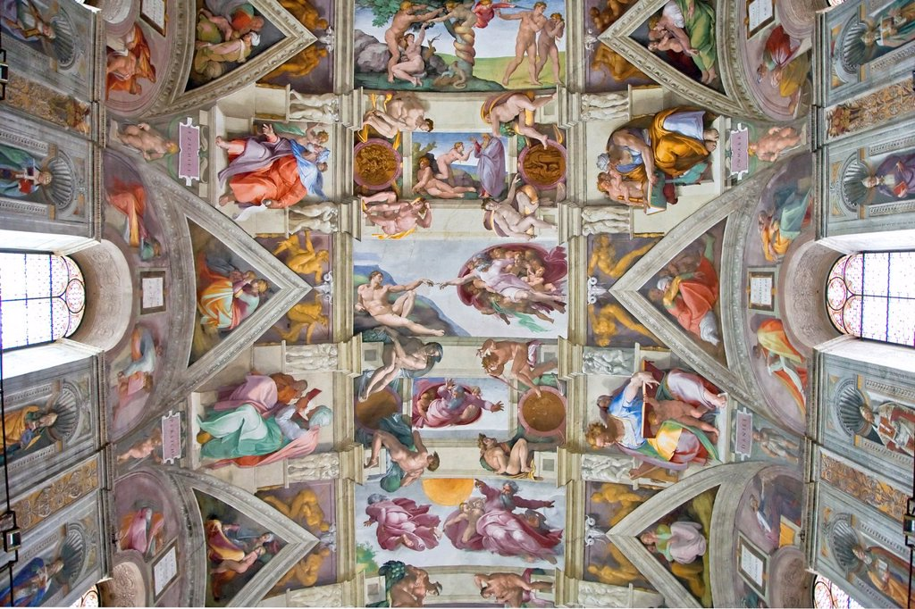 Stock Photo: 1566-784989 Michelangelo´s Sistine Chapel, Rome, Italy