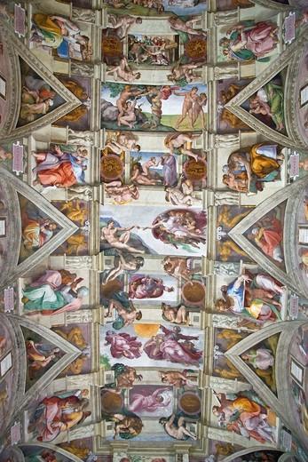 Michelangelo´s Sistine Chapel, Rome, Italy : Stock Photo