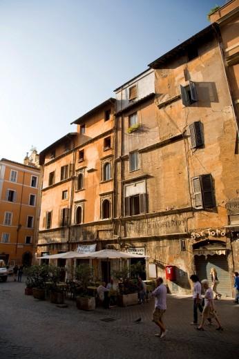 Portico d´Ottavia, Old Jewish Ghetto, Rome, Italy : Stock Photo