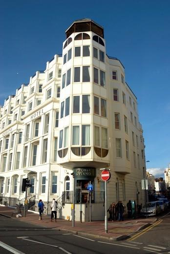 Stock Photo: 1566-785599 Queens Hotel, Brighton, Sussex, England, Great Britain.