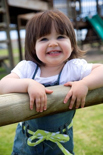 Young girl in Playground : Stock Photo