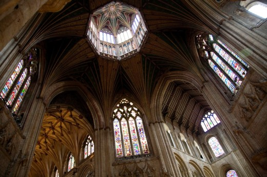 Stock Photo: 1566-787483 Interior of Ely Cathedral - ´Lantern Tower´ in Ceiling