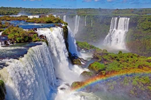 Iguacu Falls, Iguacu National Park, Brazil : Stock Photo