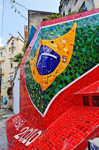 Escadaria Selaron , Colorful tiled stairway , Lapa ,Rio de Janeiro,Brazil : Stock Photo