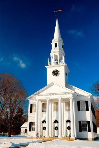 Stock Photo: 1566-788926 First Presbyterian Church, Litchfield, Connecticut, CT