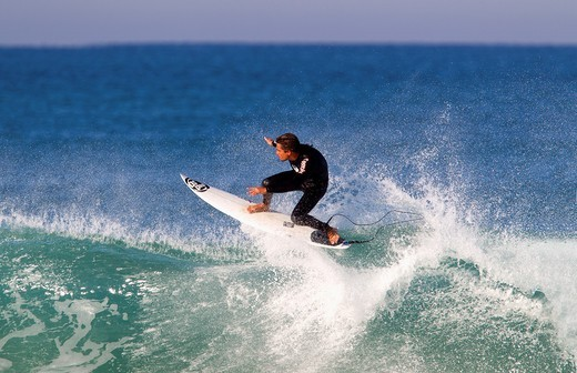 Stock Photo: 1566-789669 Surfer in Hossegor, Quiksilver Pro France, South West Cost, France