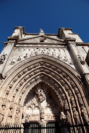 Front of the Cathedral of Toledo, Spain : Stock Photo