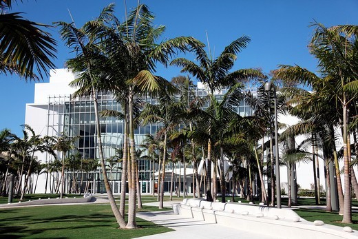 Mary and Howard Frank Plaza in Miami Beach, Florida, USA : Stock Photo