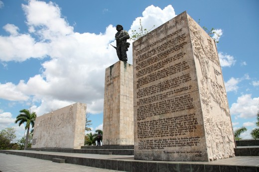 Side View of the Monument to Ernesto Che Guevara in Santa Clara, Villa Clara, Cuba : Stock Photo