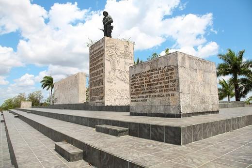 Side View of the Monument to Ernesto Che Guevara in Santa Clara, Villa Clara, Cuba : Stock Photo