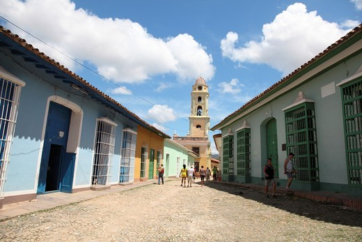 Panoramic View of the historic city of Trinidad, Cuba : Stock Photo