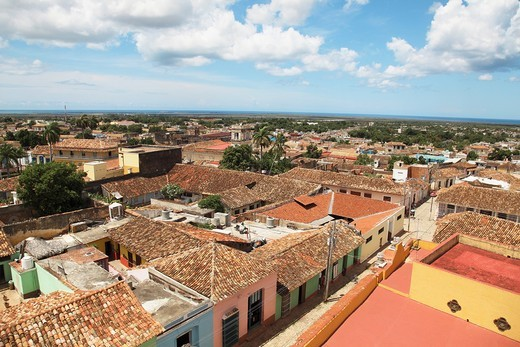 Stock Photo: 1566-790488 Panoramic View of the historic city of Trinidad, Cuba